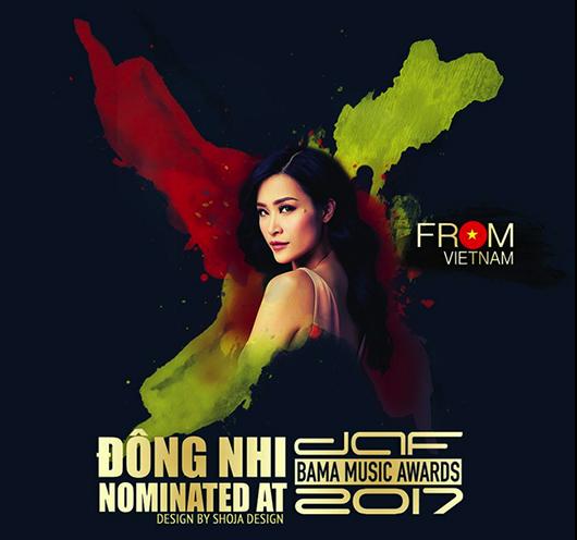 Sau Mỹ Tâm, Đông Nhi lọt vào danh sách đề cử giải thưởng quốc tế BAMA 2017