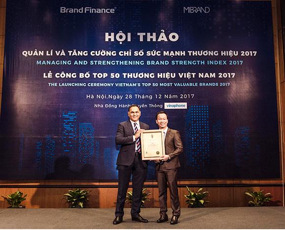 PNJ ĐƯỢC VINH DANH TRONG TOP 50 THƯƠNG HIỆU GIÁ TRỊ NHẤT VIỆT NĂM 2017