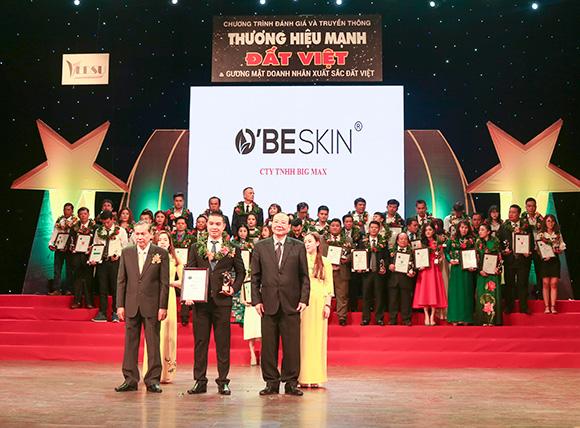 Thương hiệu mỹ phẩm O'BE SKIN vinh dự đạt Top 10 Thương hiệu mạnh Đất Việt 2018