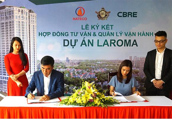 CBRE Việt Nam chính thức trở thành đơn vị tư vấn và quản lý vận hành độc quyền dự án Hateco Laroma