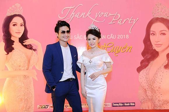 Diễn viên Luân Nguyễn lịch lãm đến chúc mừng Á hậu Thanh Huyền