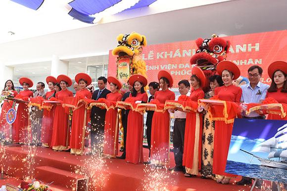 Ông Lương Ngọc Khuê, Cục trưởng Cục Quản lý khám chữa bệnh dự cắt băng khánh thành bệnh viện Phúc Hưng- Quảng Ngãi