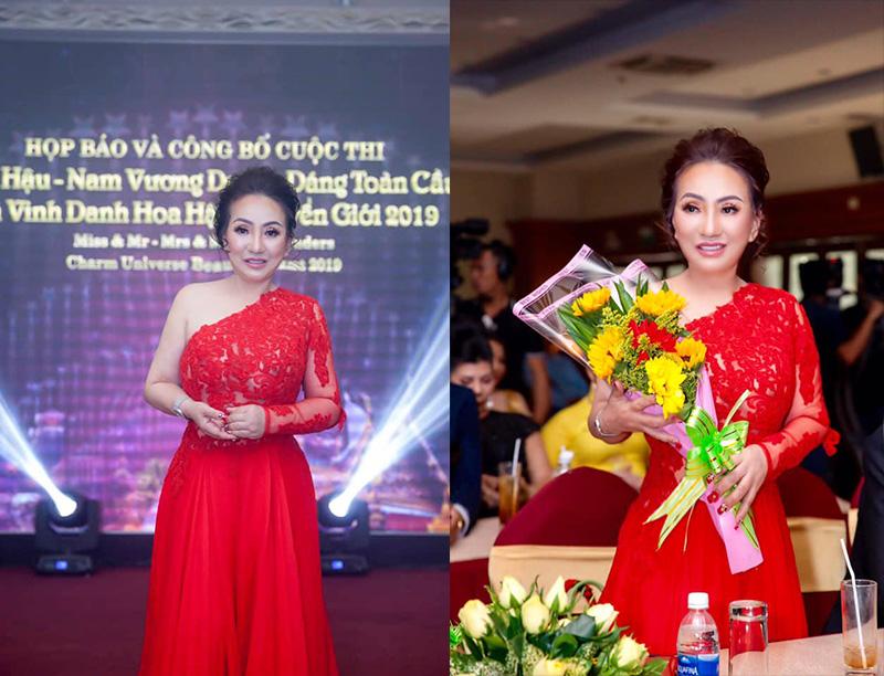Hoa hậu Lee Lee Nguyễn khỏe ảnh ngọt ngào như đóa hồng nhung trong ngày 8-3