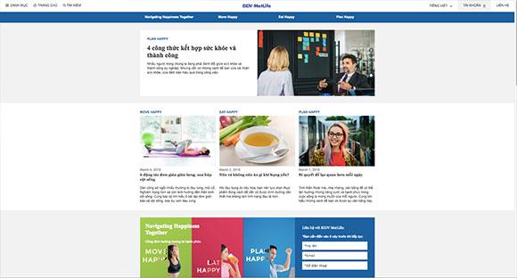 """BIDV Metlife ra mắt trang thông tin  """"Cùng định hướng tương lai hạnh phúc"""""""
