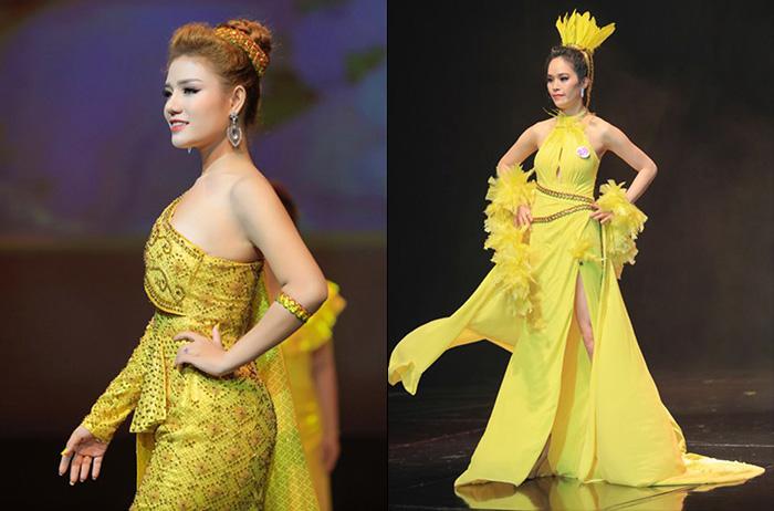 NTK Oanh Phan mang gam màu hoàng gia chinh phục công chúng đất Chùa Vàng