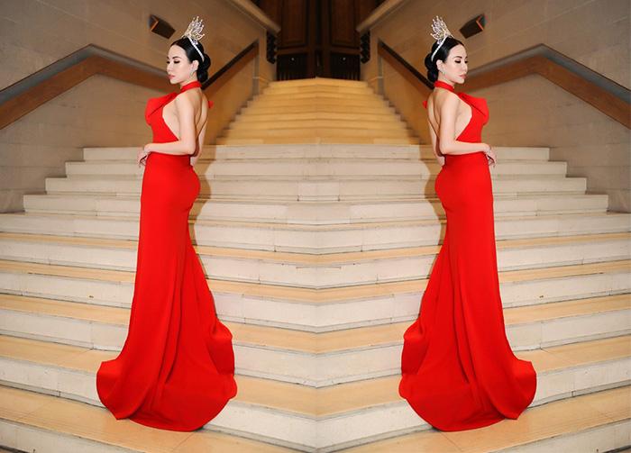 Hoa hậu Châu Ngọc Bích ngồi ghế nóng tại Hoa khôi Đại sứ Môi trường Hải Phòng 2019