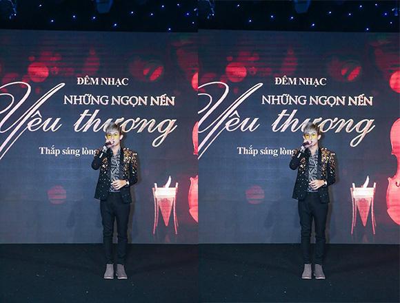 """Ca sĩ Hồ Gia Hùng """"tiếp lửa"""" để đấu giá thành công trong đêm nhạc """"Những ngọn nến yêu thương"""""""