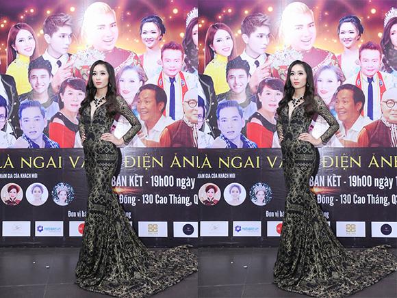 Hoa Khôi Bảo Hân diện trang phục của NTK Đức Minh diễn chương trình bán kết GMSKĐATV 2019