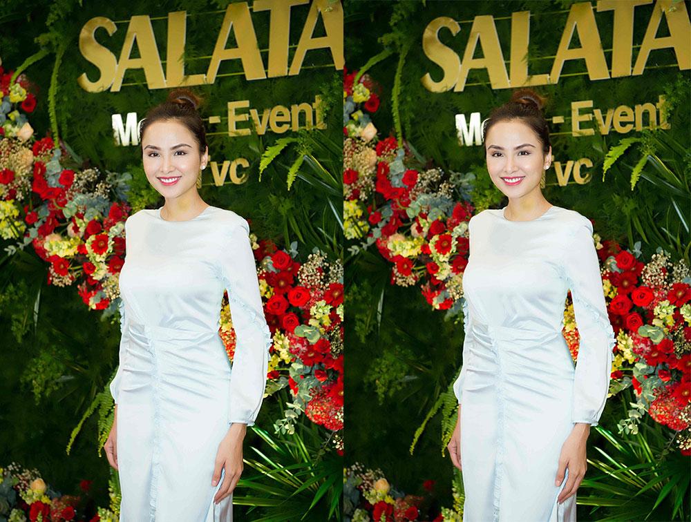 Hoa hậu Diễm Hương hội ngộ Á hậu Trịnh Kim Chi trong tiệc ra mắt công ty Salata