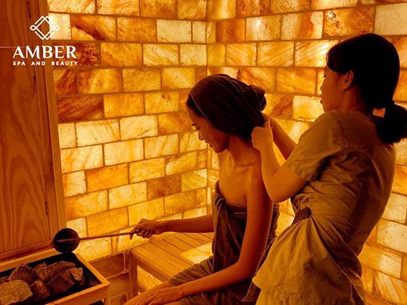 Xông hơi Banya và massage bằng cây chổi thần kỳ lá bạch dương Amber Spa & Beauty