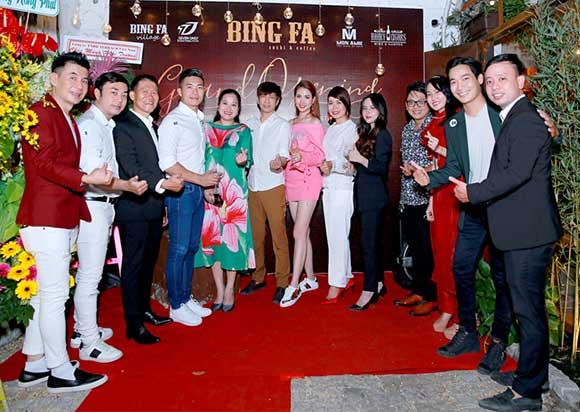 Dàn sao Việt tưng bừng chúc mừng khai trương BING FA Sushi & Coffee