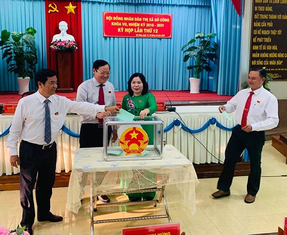 Tiền Giang:Thị xã Gò Công bầu bổ sung thành viên Ủy ban nhân dân